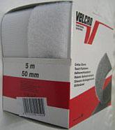 Opnaaibaar klittenband wit 50 mm