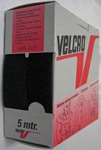 Opnaaibaar klittenband zwart 30 mm