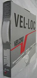 Klittenband plakbaar zachte kant (velours/vrouwtje) wit 20 mm
