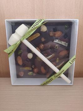 Coffret chocolat noir mendiants