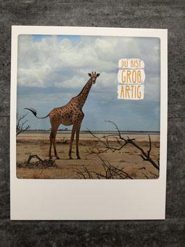Postkarte Pickmotion Du bist Großartig (Giraffe)