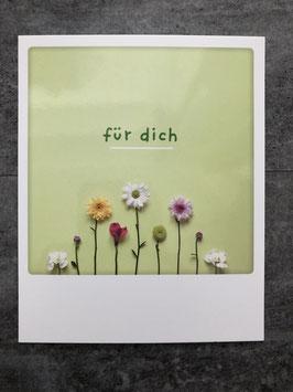 Postkarte Pickmotion Für Dich (Blümchen)