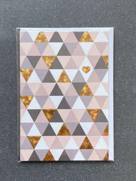 """Kupfergold Klappkarte mit Umschlag """"Small Heart"""""""