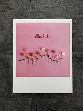Postkarte Pickmotion Alles Liebe (mit Herzblumen)