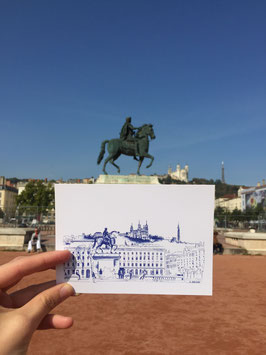 Carte postale Lyon Place Bellecour