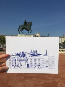 Illustration A4 Lyon Place Bellecour