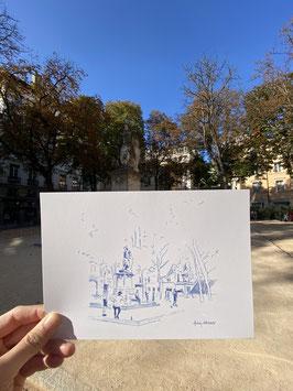 Grande Carte A5 Lyon Place Sathonay