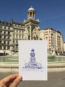 Carte postale Lyon Place Jacobins