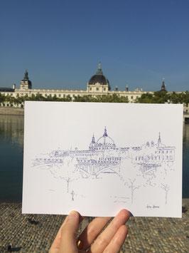 Carte Postale A5 Lyon Grand Hôtel Dieu Vue Pont Wilson
