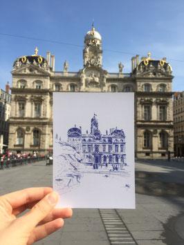 Carte postale Lyon Place des Terreaux Hotel de ville