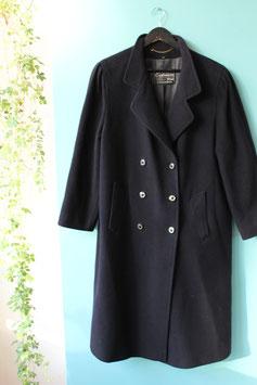 Zwarte jas van cashmere-wol