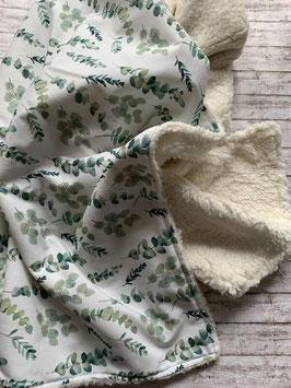 Babydecke Eucalyptus / Teddyplüsch