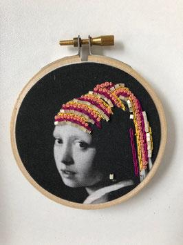 Stickbild Girl with earring