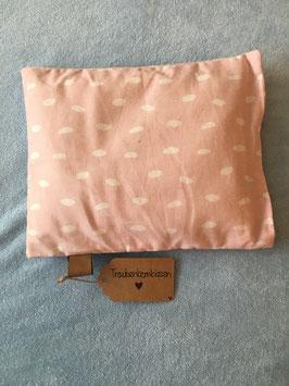 Traubenkernkissen rosa mit weissen Punkten