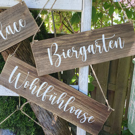 "Altholzschild ""Wohlfühloase"""