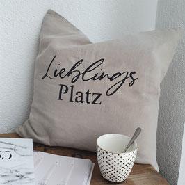 "Kissen ""Lieblingsplatz"""