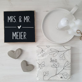 Geschenkset Mrs. & Mr.