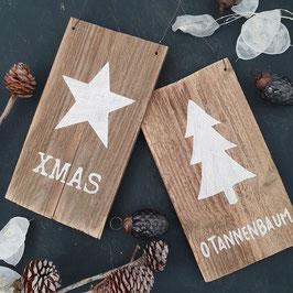 Altholzschild Weihnachten klein