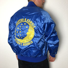 (M) VINTAGE GEORGIA COLLEGE SATIN JACKET
