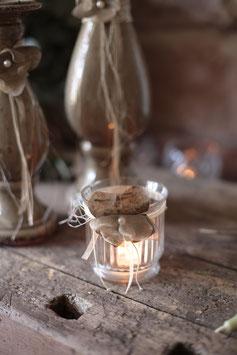 Teelichthalter mit Dekoration