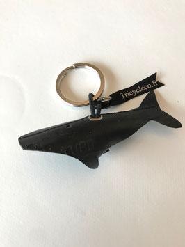 Porte clé Baleine en chambre à air