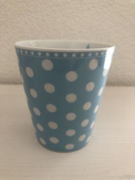 Happy Mug Babyblau mit Punkten