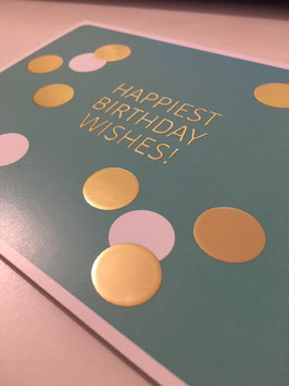 Postkarte Birthday Wishes