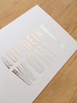 Postkarte Silber-Folie