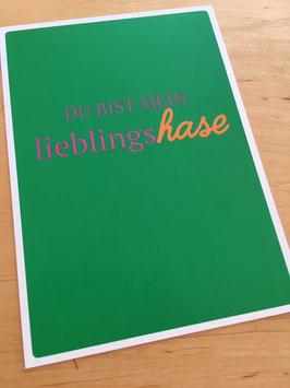 "Postkarte ""Lieblingshase"""