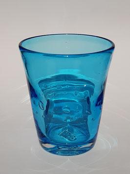 6 Gläser aus Italien Multicolor