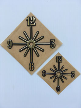 "Hot-Stamped Self-Adhesive PlastIc Starburst Dial    4"" or 6"" Sizes"