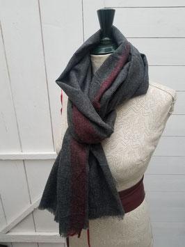 Echarpe laine fine grise