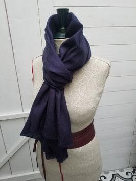 Echarpe pashmina bleu foncé / violet