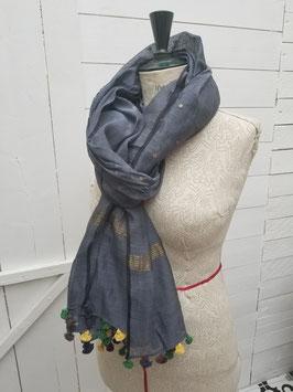Etole coton, bleu grisé (SET09)