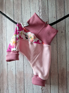Pumphosen lang 2.0 Blumen rosa, altrosa  44/50