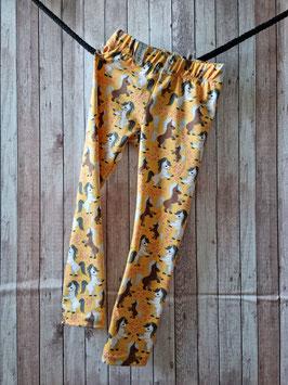 Leggings lang mit Gummiband Ponyalarm gelb/orange 104