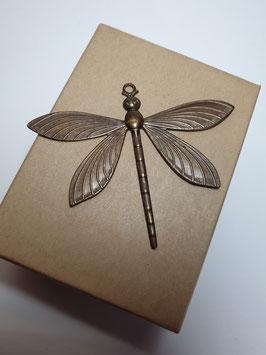 Vintaj Natural Brass Dragonfly Charm (P0033R)