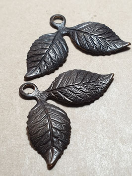 Vintaj Natural Brass Cherry Leaf