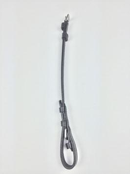 2 glatte schwarze Backenstücke mit silberfarbener Schnalle für Trensen 1,2 cm