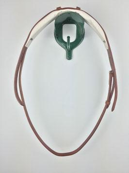 ergonomisch gepolstertes Kopfstück für Trensen mit silberfarbener Schnalle