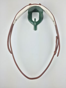 ergonomisch gepolstertes Kopfstück für Kandaren mit silberfarbener Schnalle