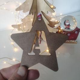 Estrellas de Navidad Inicial Sin Pintar