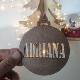 Bolas de Navidad con Nombres sin Pintar
