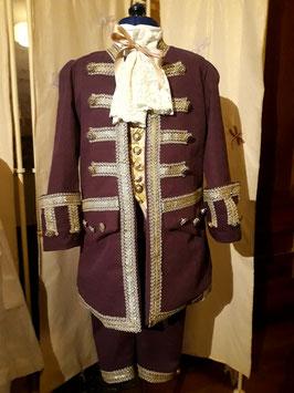 Costume 8 ans Petit marquis violet fin XVII °
