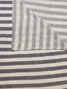Feinstick Grau/Weiß gestreift