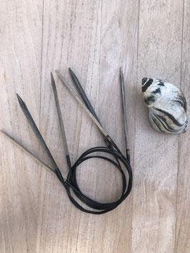 Rundstricknadeln von Lykke Driftwood grey 40 cm lang