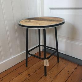 Tafel van pallethout & staal matzwart frame