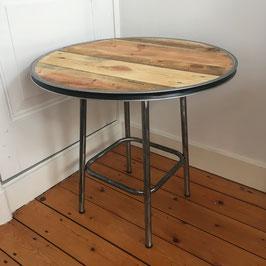 Tafel van pallethout & staal gepolijst frame