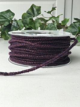 Dochtfaden mit Draht und Lurex violett - 5 Meter