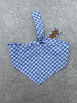 Halstuch Karo hellblau